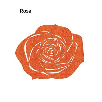 שטיח לבד ROSE בצבע כתום