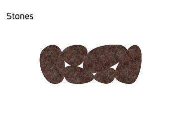 שטיח לבד צר Stone בצבע חום