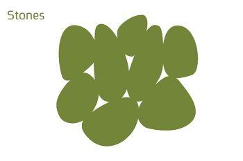 שטיח לבד Stone בצבע ירוק
