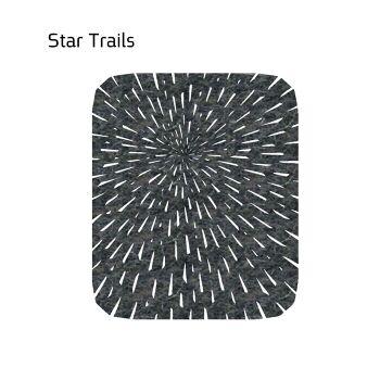 שטיח לבד STAR בצבע אפור כהה