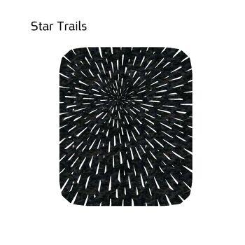 שטיח לבד STAR בצבע שחור