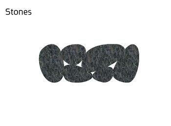 שטיח לבד צר Stone בצבע אפור