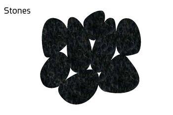 שטיח לבד Stone בצבע שחור
