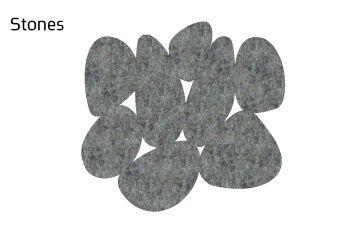 שטיח לבד Stone בצבע אפור