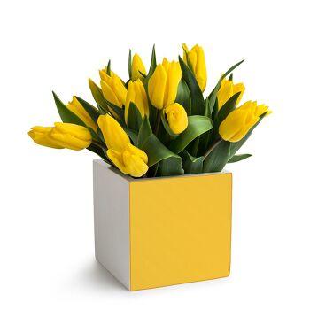 אגרטל מרובע מקוריאן צהוב