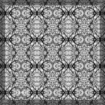 הדפס טקסטיל אמנותי בגווני שחור לבן