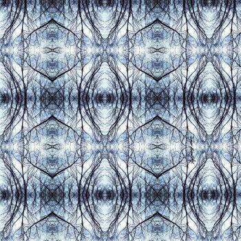הדפס טקסטיל אמנותי בגווני כחול