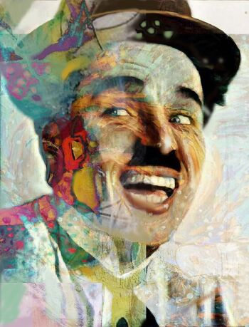 Colorful smile – Charlie Chaplin