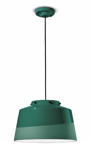 גוף תאורה קרמי בצבע ירוק