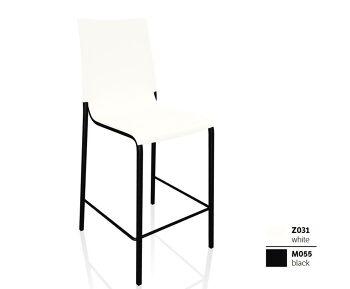 כסא בר בצבע שחור לבן EVA