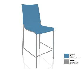 כסא בר בצבע כחול EVA