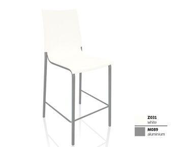 כסא בר בצבע לבן EVA