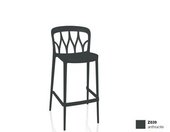 כסא בר בצבע שחור Galaxy