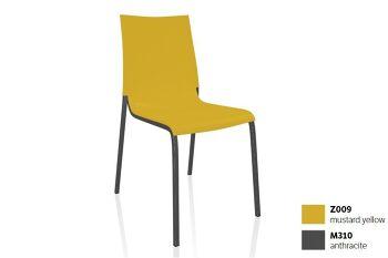 כסא פינת אוכל בצבע צהוב EVA