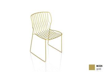 כסא פינת אוכל מוזהב FREAK (ללא כרית)