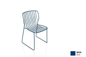 כסא פינת אוכל בצבע כחול FREAK (ללא כרית)