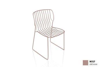 כסא פינת אוכל בצבע ורוד FREAK (ללא כרית)