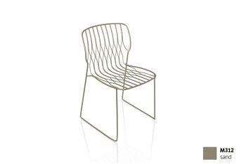 כסא פינת אוכל בצבע חול FREAK (ללא כרית)