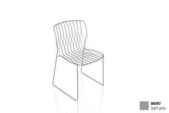 כסא פינת אוכל בצבע אפור בהיר FREAK (ללא כרית)