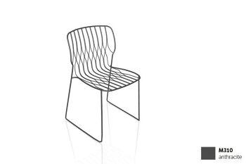 כסא פינת אוכל בצבע אפור כהה FREAK (ללא כרית)