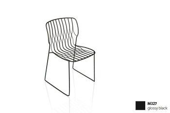 כסא פינת אוכל בצבע שחור FREAK (ללא כרית)