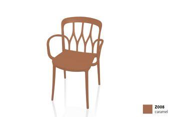 כסא פינת אוכל עם ידיות, בצבע חום Galaxy