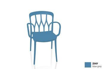 כסא פינת אוכל עם ידיות, בצבע כחול Galaxy