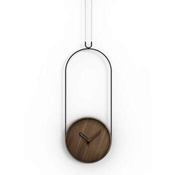 שעון קיר קולגנט עץ אגוז