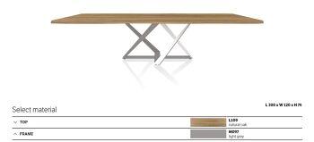 שולחן אוכל מילניום גימור עץ אלון